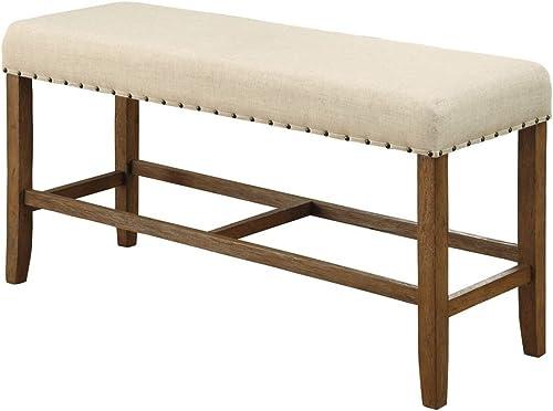 Furniture of America Seating Bench, Natural Tone