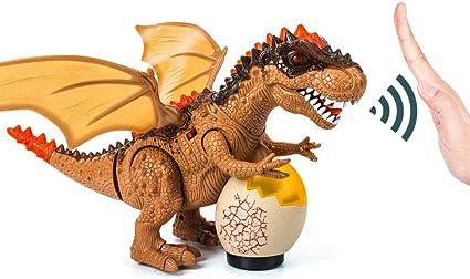 Brown Walking Tyrannosaurus Dinosaur Figure Toy with Light /& Roaring Sounds