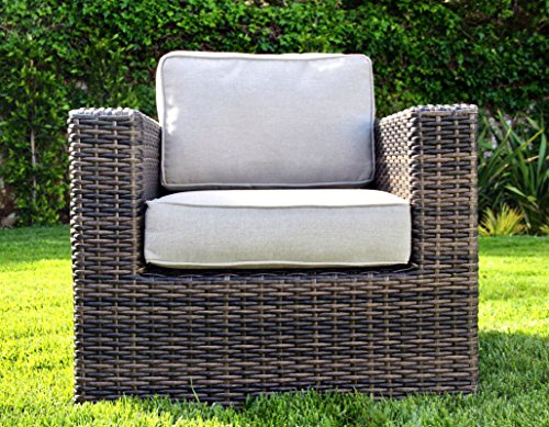 Living Source International Patio Sofa Couch Garden, Backyard, Porch or Pool All-Weather Wicker with Thick Cushions by Living Source International (Image #2)
