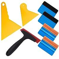 EEFUN 7 in 1 High-End-Werkzeugset für Autofolie / Tönungsfolie / Sonnenschutzfolie Installation mit Faserrand Rakel, Wildlederrakel,Gummi Rakel, Hard PP rakel.