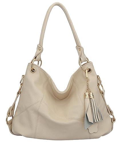 Amazon.com  Womens Purse Handbag Shoulder Bags Tote Bags Hobo Leather  Tassel 8bb10e45207b9