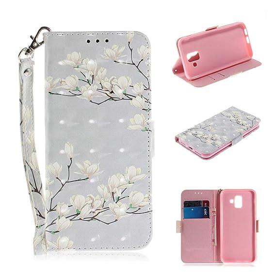finest selection 1decf b65c8 Amazon.com: Galaxy A6 2018 Wallet Case, A6 2018 Samsung Case,Premium ...