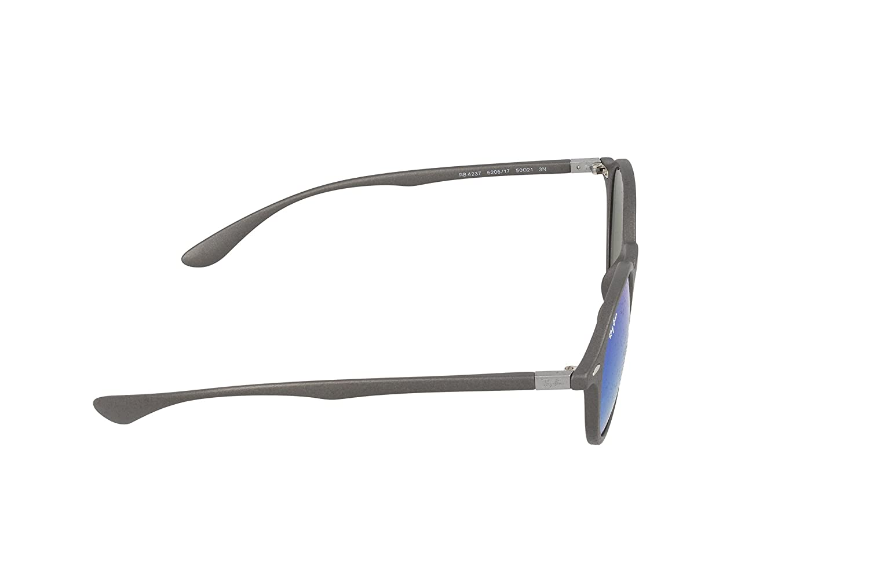 69100e4894fd4 Amazon.com  Ray-Ban INJECTED UNISEX SUNGLASS - MATTE DARK GREY Frame GREY  MIRROR BLUE Lenses 50mm Non-Polarized  Clothing