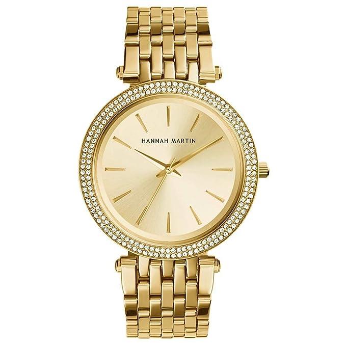 Mujer Relojes, Lananas Doble Anillo Diamante de imitación Cuarzo Elegante Relojes de Pulsera