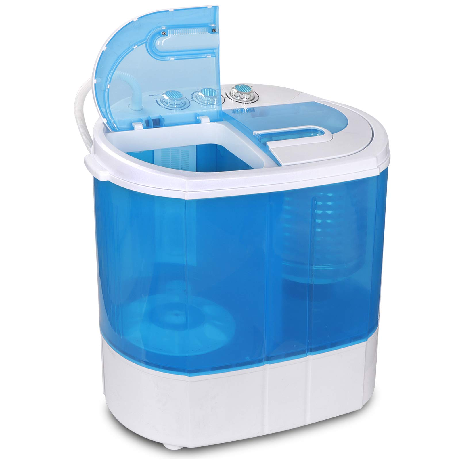 BBBuy Mini Portable Washing Machine,Twin Tub Compact Washing Machine w/Washer Spinner, Gravity Drain Pump and Drain Hose by BBBuy