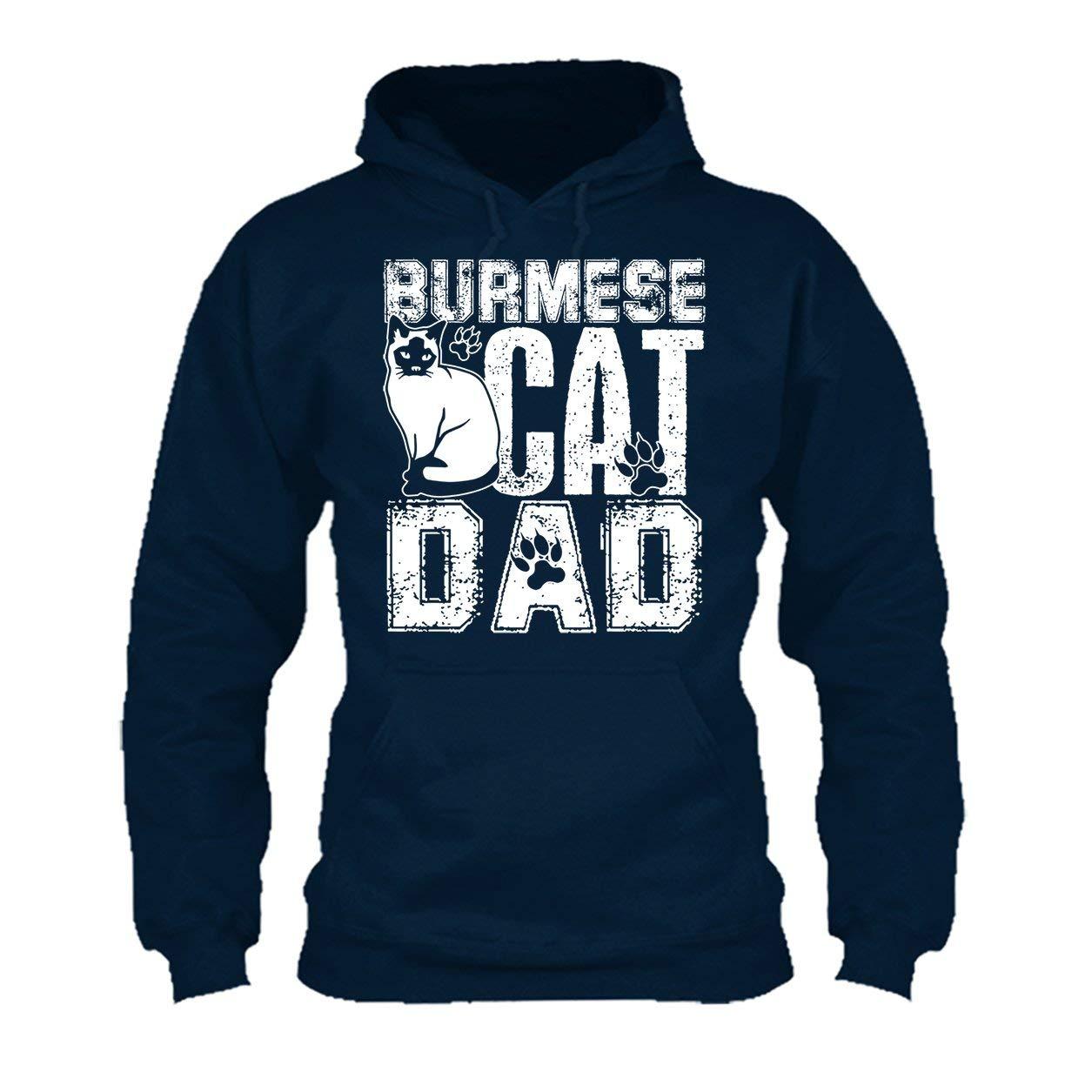 Cool Sweatshirt Hoodie Burmese Cat Dad Tee Shirt