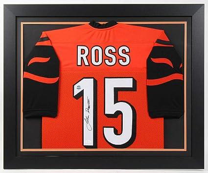 save off e9631 8a869 John Ross Autographed Signed Bengals 27X33 Custom Framed ...