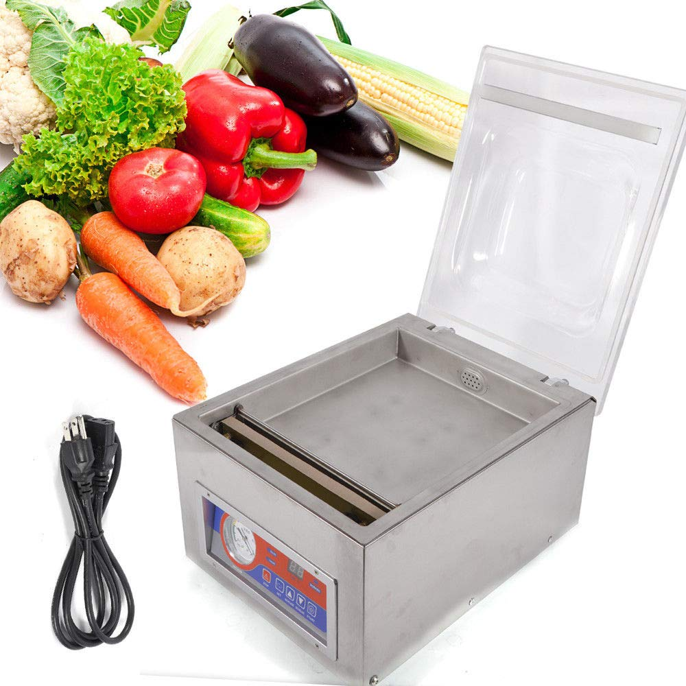 Vacuum Sealer Machine,Commercial Kitchen Food Chamber Tabletop Seal Vacuum Packaging Machine Sealer 110V (US Stock) by GDAE10 (Image #1)