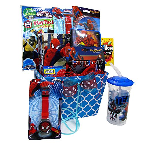 Gift Baskets For Kids :: Spiderman Fun & Games Accessory Toys, Playing Ca for $<!--$54.99-->
