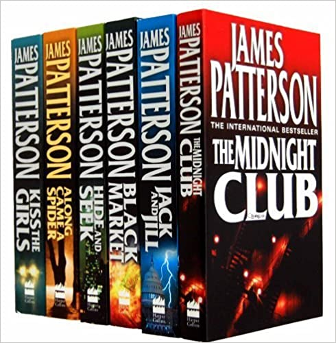 James Patterson Collection 6 Books Set (Alex Cross) RRP $71.94 (The Midnight Club, Along Came a Spider, Jack and Jill, Hide and Seek, Black Market, Kiss the Girls)