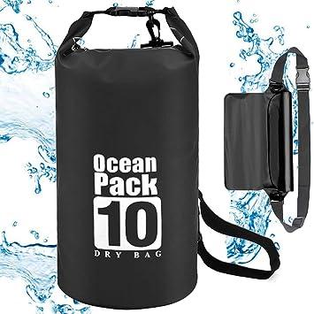 128abef0ae 10L Sac Etanche Kit EEEKit Sac/Poche Imperméable Dry Bag Nautique Sac A Dos  Etanche