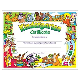Kindergarten Certificates (PK-K Certificates & Diplomas)