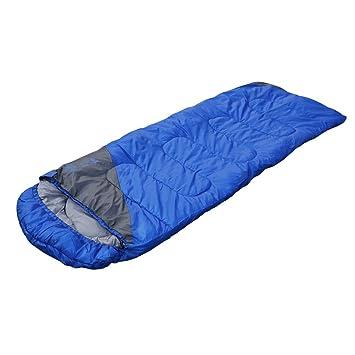 Fácil de transportar cálido adulto Saco de dormir OUTAD deportes al aire libre Camping senderismo con bolsa de transporte, azul, 3.96lbs: Amazon.es: ...