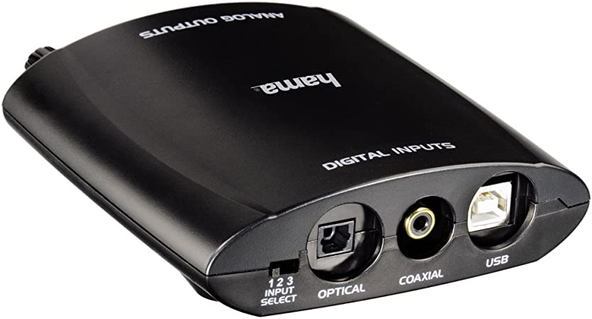 Hama - Conversor digital de audio analógico: Amazon.es: Electrónica