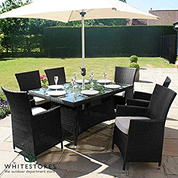 Al aire libre muebles de jardín de ratán Maze la 6 asiento 1, 5 m x ...