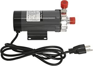 110V Magnetic Home Brewing System Beer Pump, Food Grade Stainless Steel Head with 1/2'' NPT Thread, Advanced High Temperature Resistance System Pump (Stainless Steel Head)