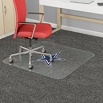 Amazon Com Dallas Cowboys Nfl Chair Mat 46 X 60 Office Products