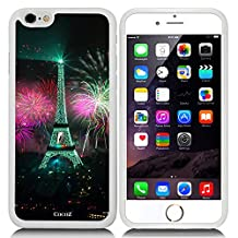 New Apple iPhone 6 s 4.7-inch CocoZ® Case Classic Paris Eiffel Tower Beautiful Night view TUP Material Case (White TPU& Eiffel Tower 17)