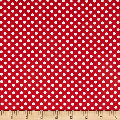 Newcastle Fabrics Polka Dot Red, Fabric by the Yard