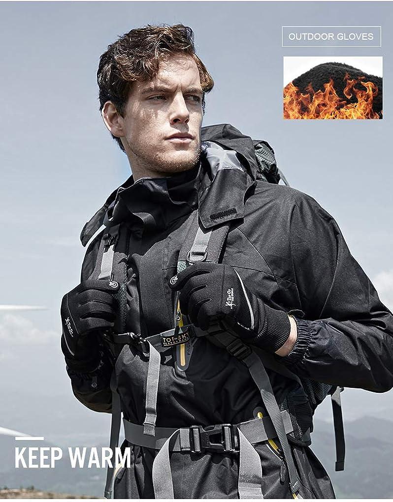 Touchscreen Winter Gloves Men Women Reflective Non Slip Thermal Waterproof Glove