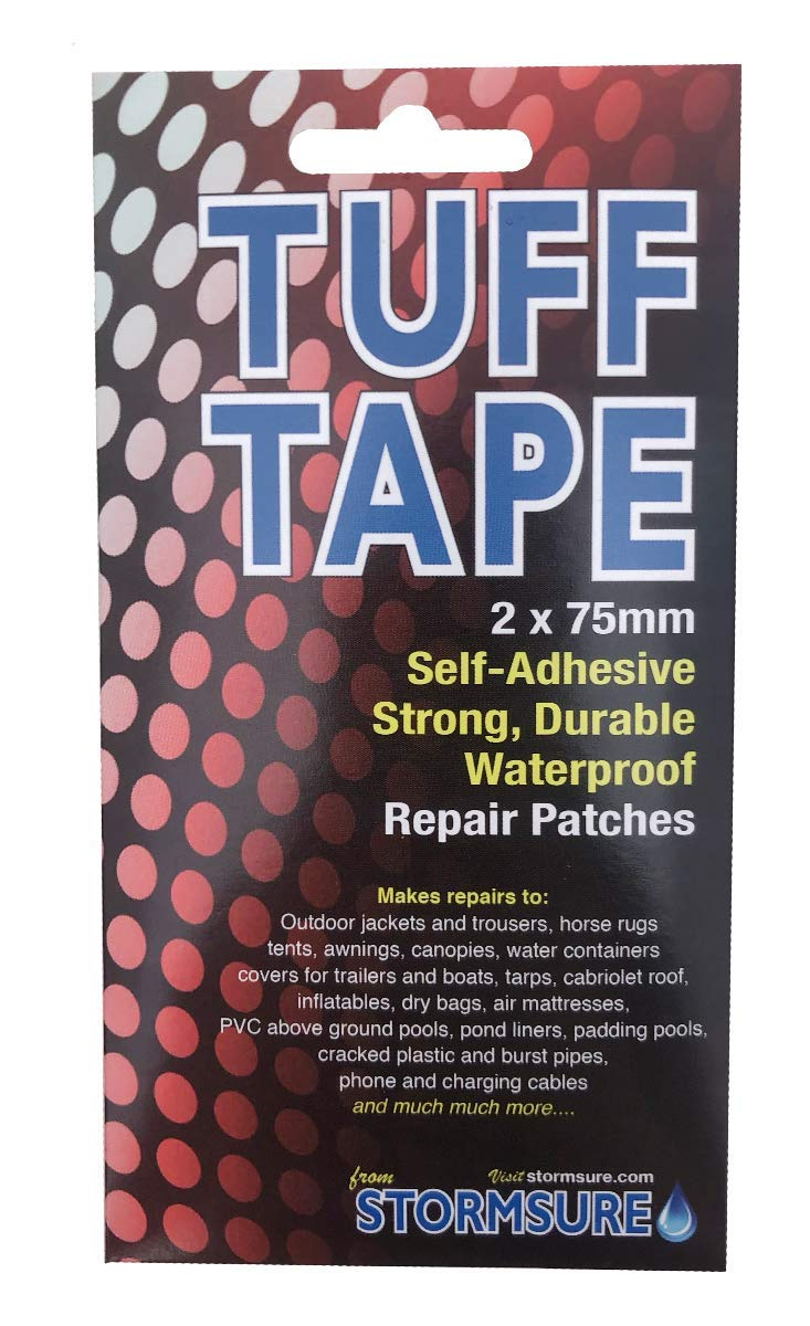 TUFF TAPE Self Adhesive Repair Patches 2-Pack 75mm