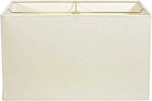 Cream Linen Rectangle Lampshade – 17