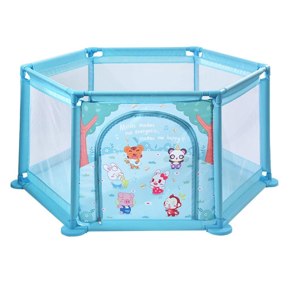 NAN liang 遊び場の男の子と女の子の幼児のフェンス(ブルーヘキサゴン)のための屋内の子供の遊び場145 * 64 * 65センチメートル   B07LBC7B1B