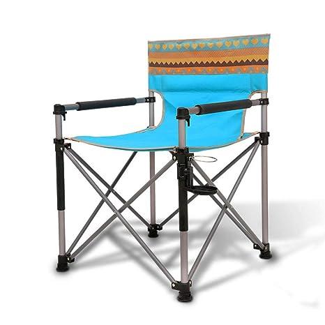 Asdflina Sillas de Camping Plegables portátiles de Aluminio ...
