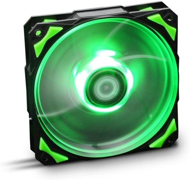 Nox Hummer H-FAN LED-Verde - NXHUMMERF120LG - Ventilador 12 mm, Led Verde