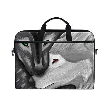 DragonSwordlinsu COOSUN - Bolso Bandolera para Ordenador portátil, Color Blanco y Negro: Amazon.es: Informática