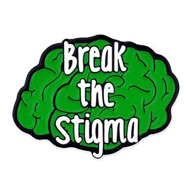 Amazon Com Pinmart Break The Stigma Green Awareness Mental Health