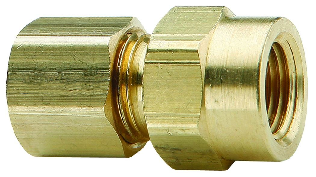 Dixon 66C-0602 3//8 x 1//8 Brass Female Connector Compression Fitting