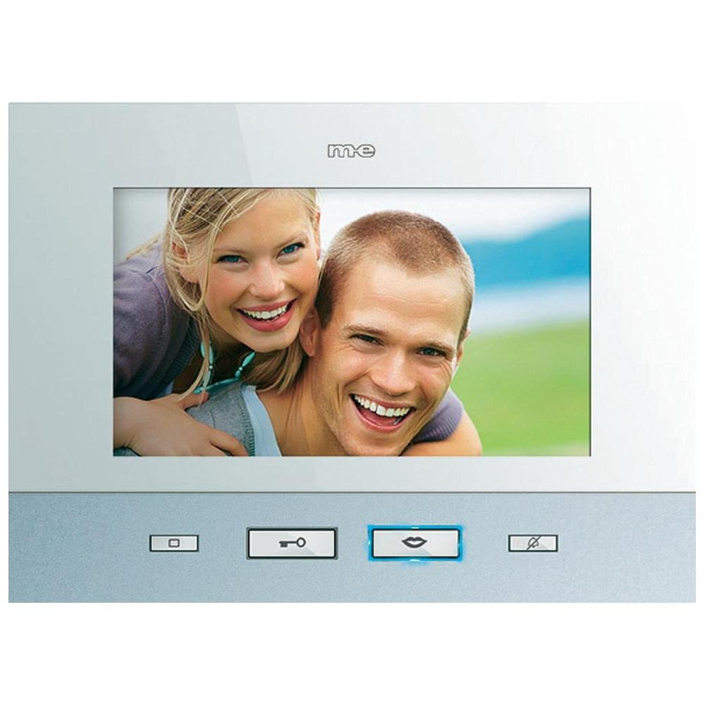m-e VDV-507 Video-Innenstation mit 7 Zoll Farb-TFT-Bildschirm für m-e Vistadoor Videosprechanlage für Mehrfamilienhaus