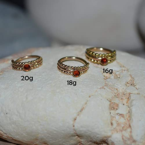 Amazon Com 7mm Garnet Nose Ring Gold Nose Ring Stud 20 Gauge
