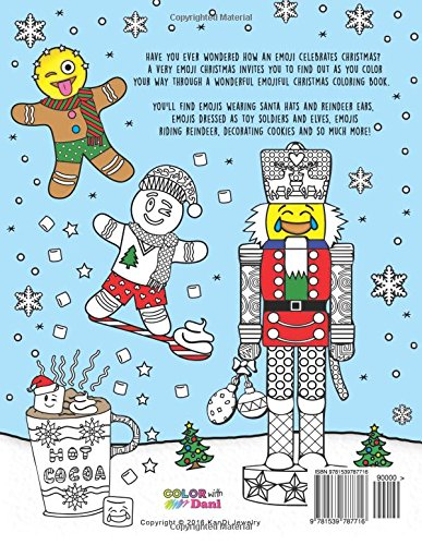 A Very Emoji Christmas Coloring Book 24 Page Coloring Book For Adults Teens Tweens And Children Kates Dani Kates Dani 9781539787716 Amazon Com Books