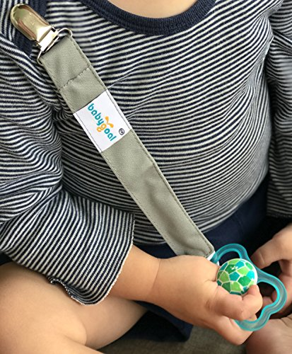 Babygoal Metal Pacifier Clips, 3 Pack Pacifier Holder Fits Most Pacifier Styles &Teething Toys and Pacifier Clips for Boys and Girls MP01