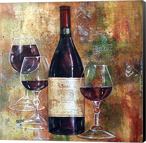 - Napa Valley Pinot by Jamie Carter Canvas Art Wall Picture, Museum Wrapped with Black Sides, 14 x 14 inches