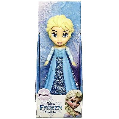 "Disney Princess Poseable Elsa Movie Dress Mini Toddler Glitter Frozen Doll 3"": Toys & Games"