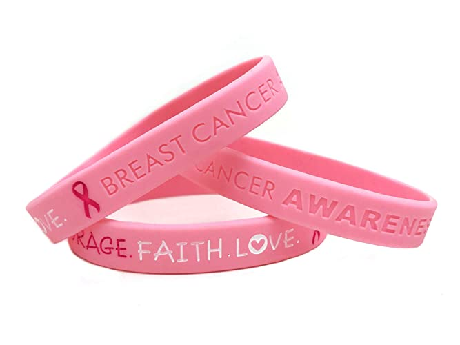 Pink breast cancer bands in uk
