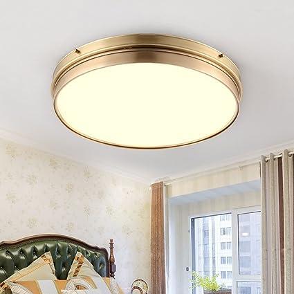 GYD Lámpara de Techo con lámpara de Techo Lámpara de Cobre ...