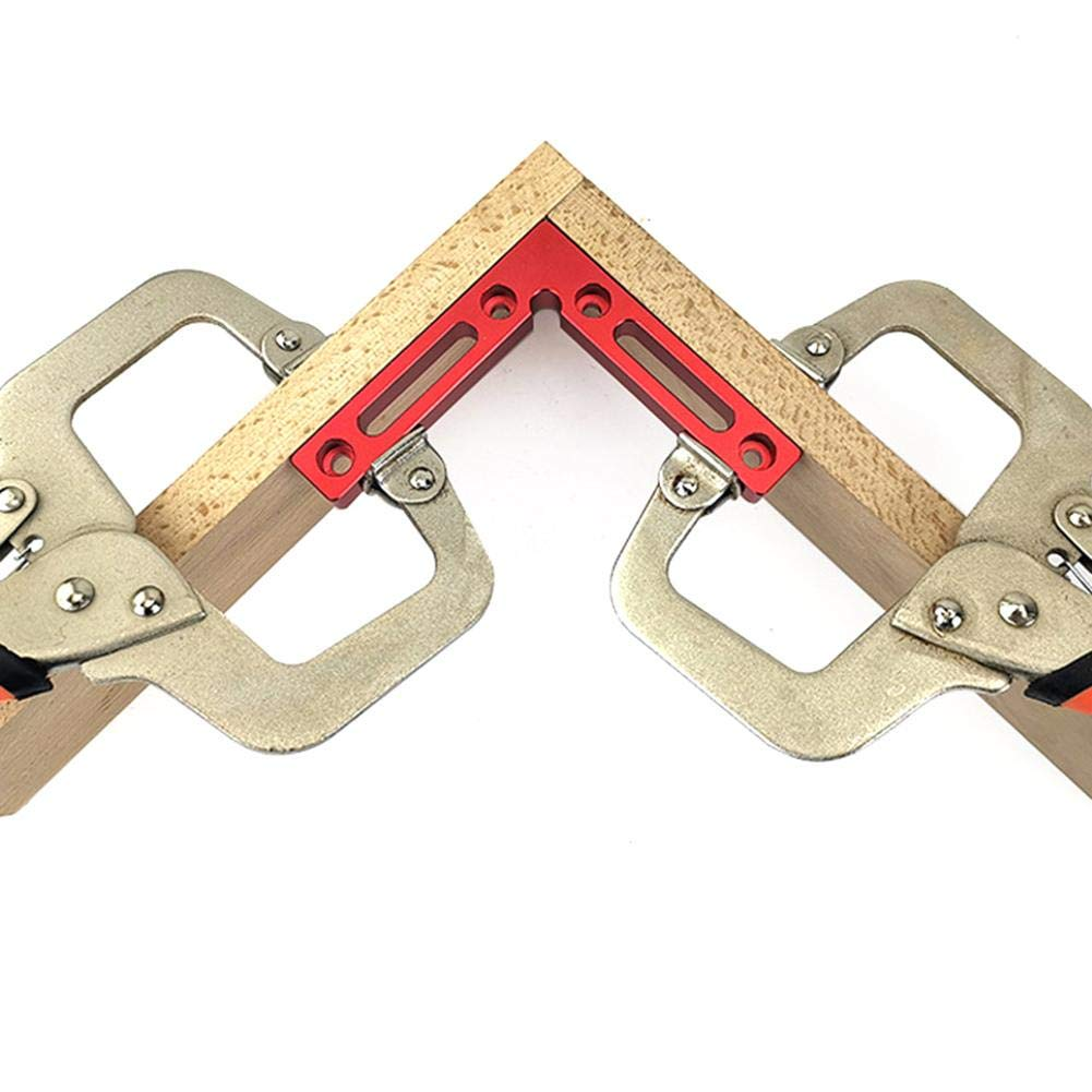 Basisago Woodworking Precision Right Angle Positioning Fixture Right Angle 90 Degree Positioning Block Woodworking Clamp Right Angle Clamp Woodworking Combination Tool