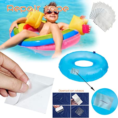 Amazon Com Vinyl Repair Patches Kit For Inflatable Swimming Pool Bounce House Puncture Repair Wet Set Adhesive Plastic Repair Patch Tenacious Tape Flex Patches For Hot Tub Pool Leak Seal 2