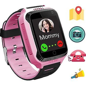 1.44 Pulgadas Touch Kids GPS Tracker Smart Watch SOS Reloj Pulsera para Niños Chicos Reloj Niños Inteligente Flashlight Switch Smartwatch Niños ...