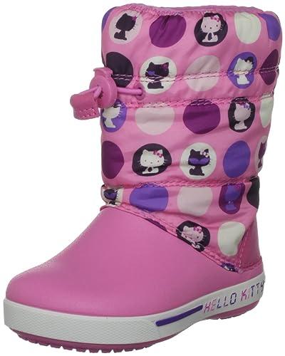 01fc480c9 Crocs Youth Crocband Ii.5 Gust Boot Hello Kitty Circles Pink  Lemonade Purple Snow