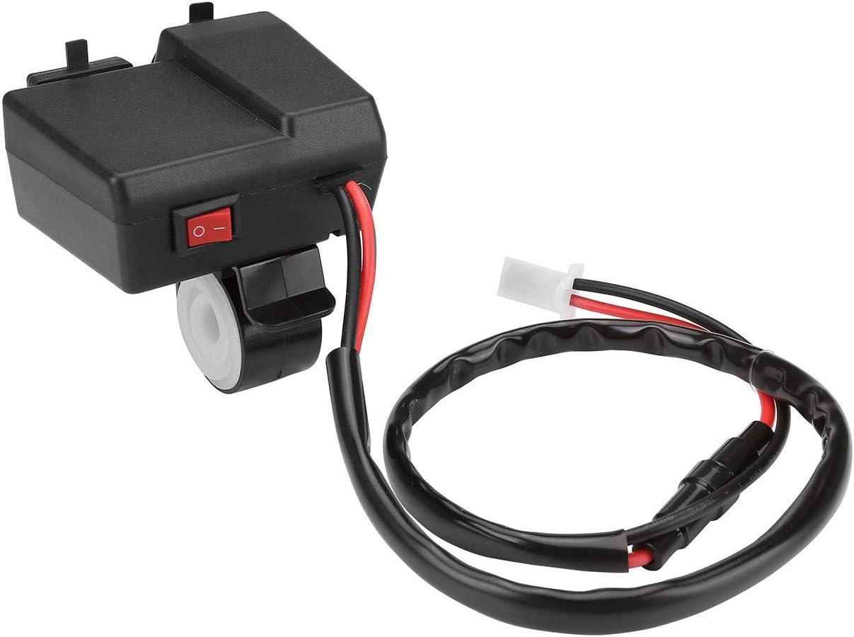 ACBungji Adaptateur Prise Allume Cigare Femelle Chargeur 2 Ports USB Num/érique LED Voltm/ètre Tester Bleu 12V Installation du Guidon Pour Moto ATV UTV Scooter