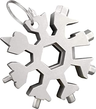 1, Negro regalo de Navidad snowflake multi tool Multiherramienta 18 en 1 copo de nieve Destornillador multi-herramienta bricolage herramientas Llave de destornillador port/átil regalo