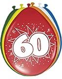 8 Globos 60o Cumpleaños de colores