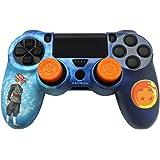 FR-TEC / Blade  PS4 ドラゴンボール超 コンボパック  超サイヤ人ゴッドSSデザイン DUALSHOCK®4専用カバー&グリップ&LEDステッカー 3種類セット