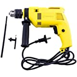 Buildskill BED2100 230V Impact Drill with Reversible Function (Yellow and Black, 4-Pieces)