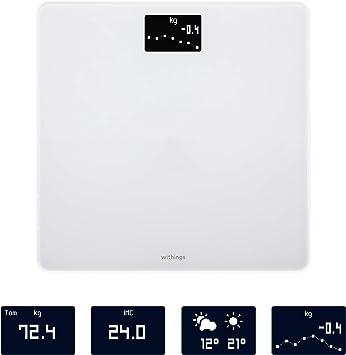 Withings Body Báscula inteligente con conexión Wi-Fi y seguimiento del IMC, báscula digital de baño con sincronización con la aplicación móvil por Bluetooth o Wi-Fi, Blanco: Amazon.es: Salud y cuidado personal
